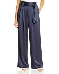 Tory Burch - High-waisted Satin Pant - Lyst