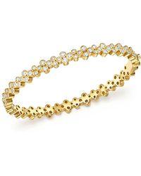 Temple St. Clair - 18k Yellow Gold Eternity Diamond Trio Bangle Bracelet - Lyst