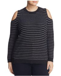 Lucky Brand - Stripe Cold-shoulder Jumper - Lyst