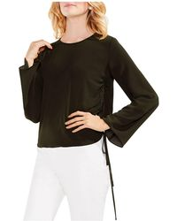 Vince Camuto - Bell Sleeve Side Drawstring Top - Lyst