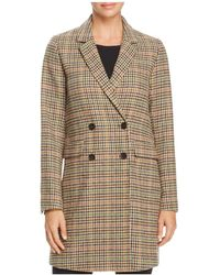 Re:named - Double-breasted Tartan Coat - Lyst