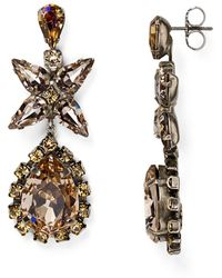 Sorrelli - Swarovski Crystal Teardrop Earrings - Lyst
