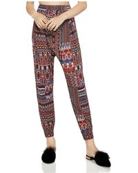 BCBGeneration - Printed Harem Trousers - Lyst