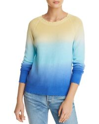 Minnie Rose - Distressed Ombré Jumper - Lyst