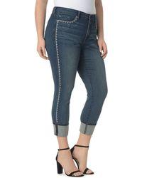NYDJ - Alina Wide Cuff Ankle Jeans In Oak Hill - Lyst