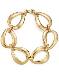 Bloomingdale's - 14k Yellow Gold Pear Shape Link Bracelet - Lyst