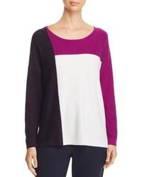 Donna Karan - New York Lightweight Color Block Sweater - Lyst