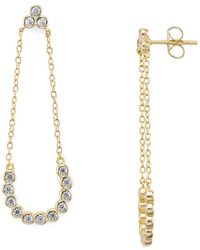 Aqua | Chain Drop Earrings | Lyst