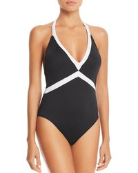 Ralph Lauren - Lauren Bela V-neck One Piece Swimsuit - Lyst