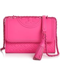 Tory Burch - Fleming Convertible Matte Small Leather Shoulder Bag - Lyst