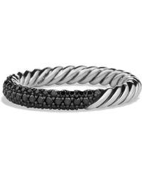 David Yurman - Petite Pavé Ring With Black Diamonds - Lyst
