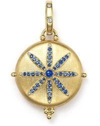Temple St. Clair - 18k Gold Sorcerer Locket With Sapphire And Diamonds - Lyst