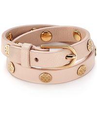 Tory Burch | Double Wrap Logo Stud Bracelet | Lyst