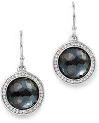 Ippolita - Sterling Silver Lollipop Diamond & Hematite Doublet Drop Earrings - Lyst