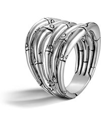 John Hardy - Bamboo Silver Wide Ring - Lyst
