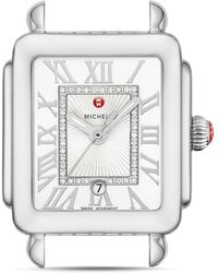 Michele - Deco Madison Mid Stainless - Steel Diamond White Dial Watch Head - Lyst