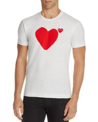 Play Comme des Garçons - Comme Des Garçons Play Heart Graphic Tee - Lyst