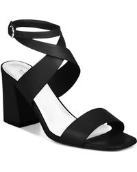 Via Spiga - Women's Evelia Ankle-strap Leather Block Heel Sandals - Lyst