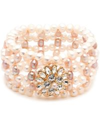 Carolee - Cultured Freshwater Pearl Stretch Bracelet - Lyst