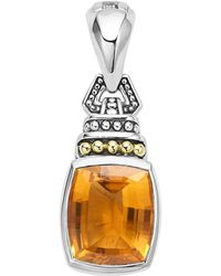 Lagos - 18k Gold And Sterling Silver Caviar Colour Pendant With Citrine - Lyst