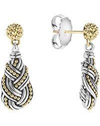 Lagos - 18k Gold & Sterling Silver Torsade Drop Earrinsgs - Lyst