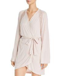 265335c5e7 Lyst - Oscar De La Renta Sweet Seduction Mesh Robe in White