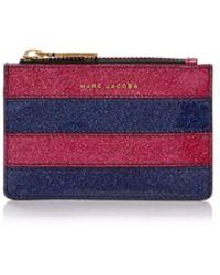 Marc Jacobs - Glitter Stripe Top Zip Leather Wallet - Lyst