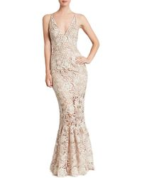 Dress the Population - Sophia Lace Mermaid Gown - Lyst