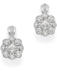 Judith Ripka - Sterling Silver La Petite Snowflake Cluster Earrings With White Sapphire - Lyst