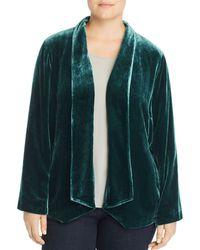Eileen Fisher - Angled Velvet Jacket - Lyst