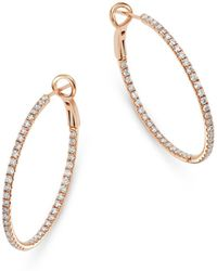 Bloomingdale's - Diamond Inside - Out Hoop Earrings In 14k Rose Gold - Lyst