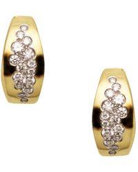 Antonini - 18k Yellow Gold Matera Silvermist Diamond Earrings - Lyst