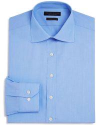 Bloomingdale's - Fine Line Stripe Regular Fit Basic Dress Shirt - Lyst