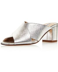 Charles David - Women's Crissaly Leather Block Heel Slide Sandals - Lyst