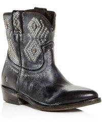 Frye - Women's Billy Distressed Leather Low-heel Western Boots - Lyst