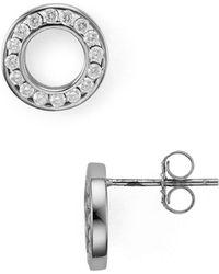 Aqua - Hollow Circle Stud Earrings - Lyst