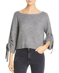 Kenneth Cole - Cropped Boat-neck Sweater - Lyst