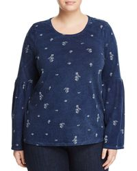 Vince Camuto Signature - Floral Bell Sleeve Top - Lyst