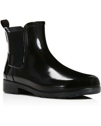 HUNTER - Women's Original Refined Chelsea Gloss Rain Booties - Lyst