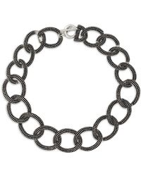 The Kooples - Linked Chain Toggle Necklace - Lyst