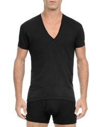 2xist - Solid Dipped V-neck Tee - Lyst