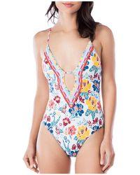 Lucky Brand - Las Dalias One Piece Swimsuit - Lyst