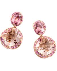 John Hardy - 18k Rose Gold Cinta Collection One-of-a-kind Naga Multi-stone Drop Earrings With Brown Diamonds - Lyst
