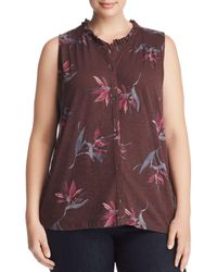 Lucky Brand - Printed Button-front Tank - Lyst
