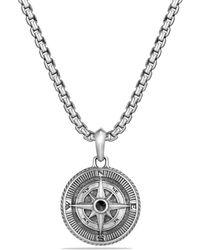 David Yurman - Maritime Compass Amulet With Black Diamonds - Lyst