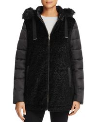 Via Spiga - Mixed Media Coat - Lyst