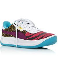 7d85fcdec7c PUMA Women s Basket Classic Floral Lace Lace Up Platform Sneakers in ...