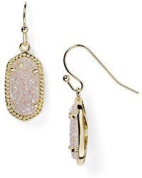 Kendra Scott - Lee Agate Drop Earrings - Lyst