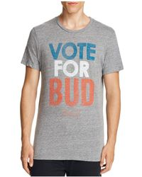 Junk Food | Vote For Bud Graphic Tee | Lyst
