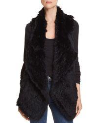 C By Bloomingdale's - Rabbit Fur & Cashmere Vest - Lyst